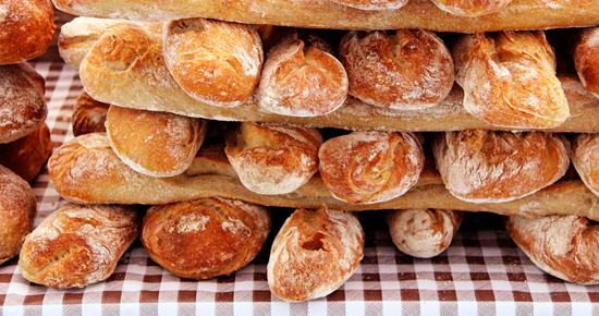 barras de pan apiladas
